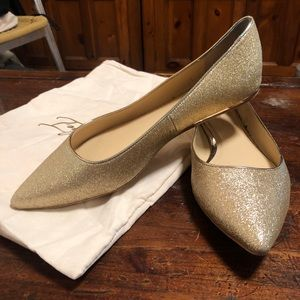 Vince Camuto Champagne Soft Gold Flats